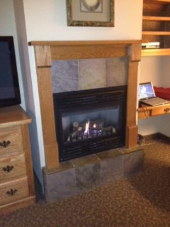 Stone Gate Inn : thermostatically controlled fireplace as well as a room furnace/AC if needed