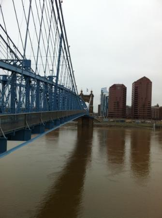 Cincinnati, OH: Mid bridge looking toward Newport, KY