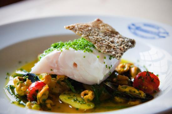 The Kingham Plough Restaurant: Wild bass
