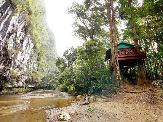 Khao Sok National Park, Thailand: Romance Tree House next to Cliff and River, Khao Sok