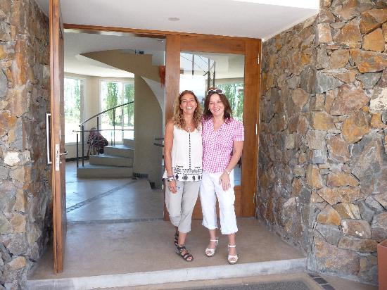 Villa Mansa Wine Hotel & Spa: With Viviana, the owner, a new friend