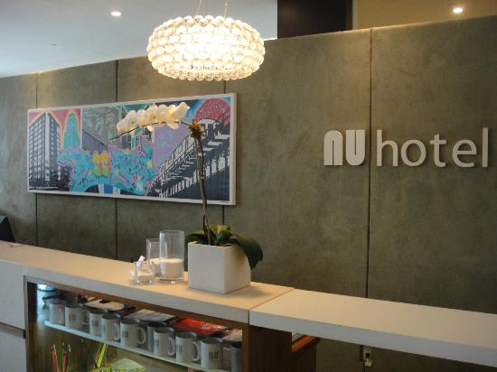 NU Hotel: Really like the design elements in the lobby!