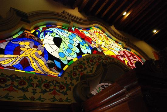 Cafe de Tacuba : Stained glass window