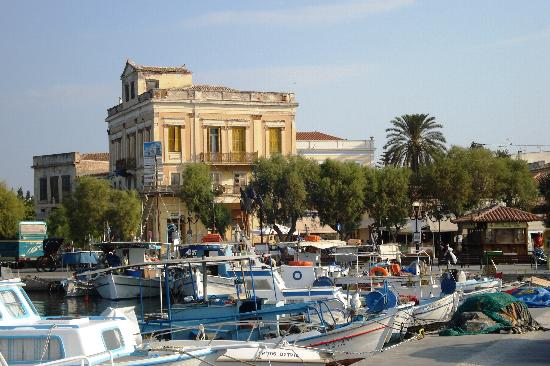 Hotel Anna : View from the Quay Aegina Town