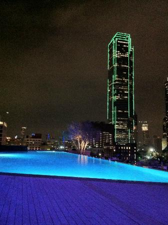 view of downtown dallas from the omni pool picture of. Black Bedroom Furniture Sets. Home Design Ideas
