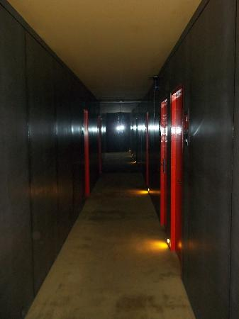 Just Beds: Dark Hallways - but makes hotel look bigger