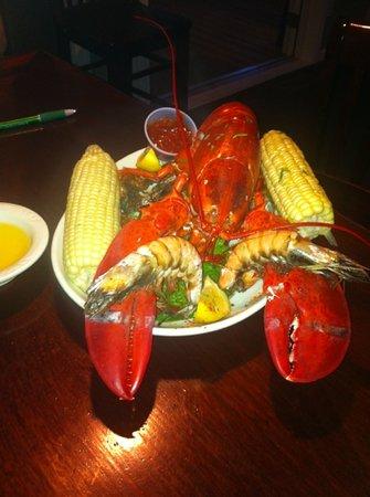 Port - Dewey Beach: Maine lobster bake with Jumbo Prawns!! Yumm