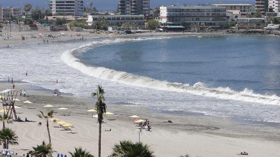 Hotel Spark Iquique: Vista da praia, foto tirada no quarto do hotel.
