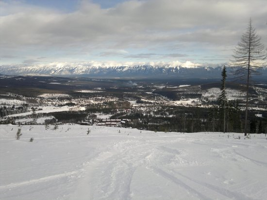Kimberley Alpine Resort: Powder run on the front side. South of the main chair...