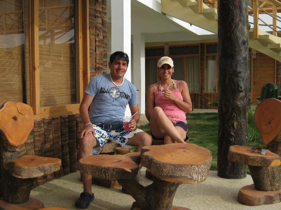 Las Palmeras de Punta Sal: Mi pareja y yo