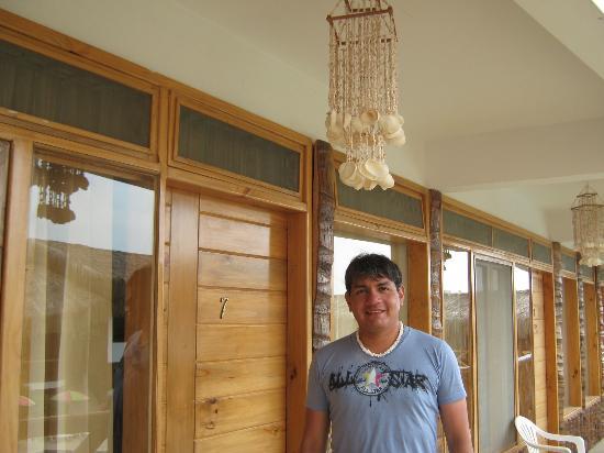Las Palmeras de Punta Sal : En la entrada del dormitorio