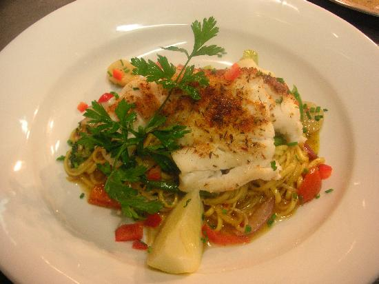 Quincy's: Baked Cod with Asian Stir Fry Veg and Egg Noodles