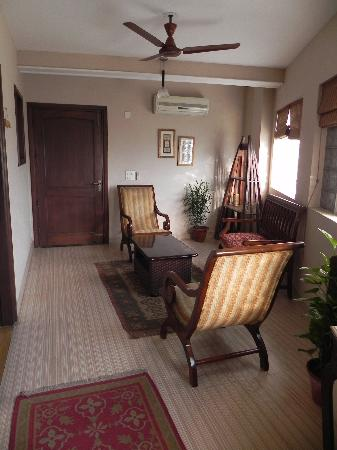 The Estate Villa: The private living area adjoining the two rooms we had booked