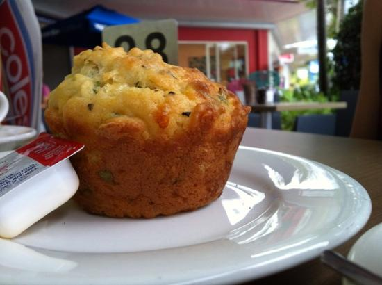 The Caf Coolum: savory muffins.
