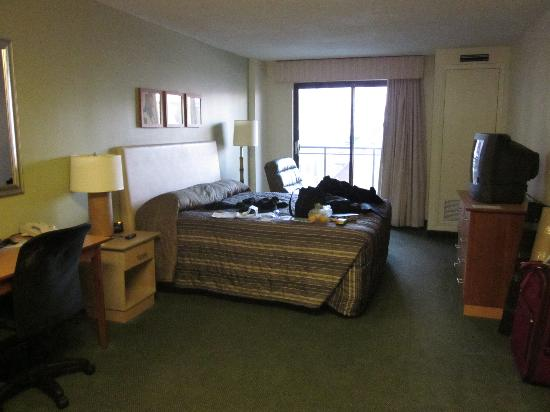 Extended Stay Canada - Ottawa: The bed & sitting area with desk