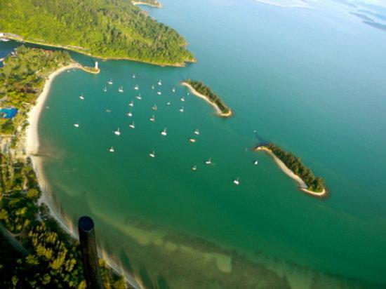 Helioutpost: Telaga harbor from the air