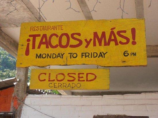 Tacos y Mas!: Monday - Friday, 6pm - 10pm