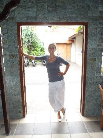 Kuta Lagoon Resort & Pool Villa: me just after our welcome drink