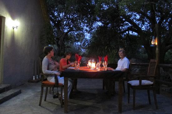 Blyde River Wilderness Lodge: Abendessen - sehr empfehlenswert!