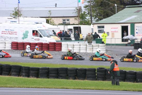 All Ireland Go Karting finals at Pallas Karting near Galway City, Ireland