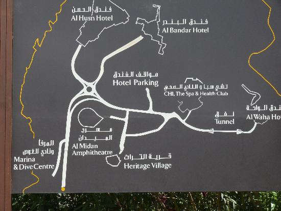 Barr Al Jissah, Oman : Vorn: Al Bandar-Hotel, hinten: Al Waha-Hotel