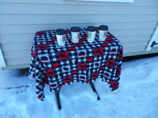 Lake Placid Sleigh Rides: Hot cocoa - perfect for the cold