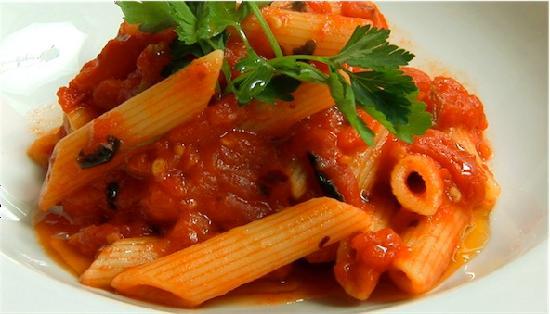 Gusto Gusto: ARRABIATA :Dried tomatoes, fried onion, chili oil and fresh basil.