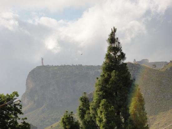 Monte San Biagio: dal basso, dopo un temporale