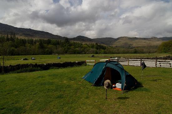 Beinglas Farm Campsite: view from camp