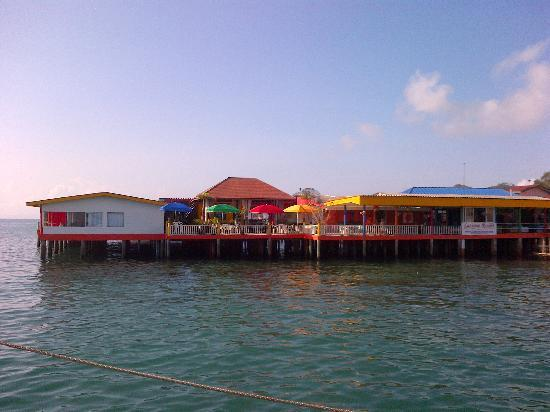 Lareena Resort: view from ferry terminal to resort