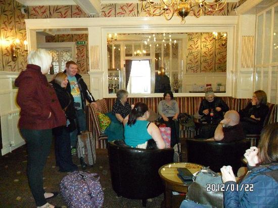 The Queens Hotel : the large reception area