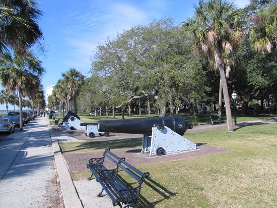 Charleston, SC: The Battery is where the cannon were arrayed