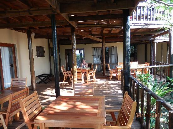 Ndiza Lodge and Cabanas: terras with a view