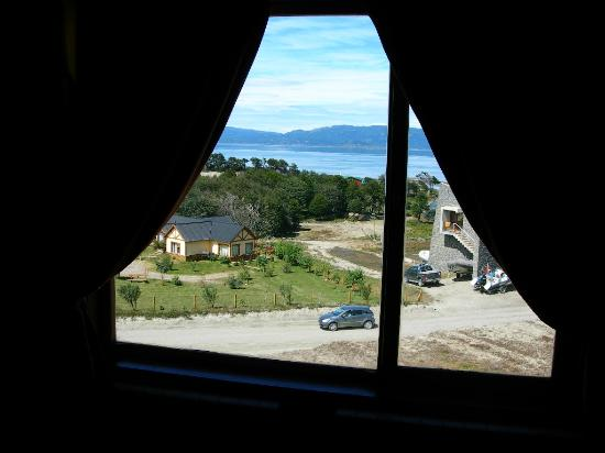 Tierra de Leyendas Boutique Hotel: view to the Beagle Channel from the bedroom