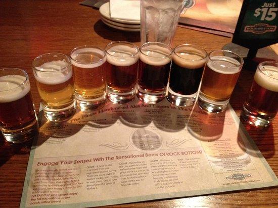Rock Bottom Restaurant & Brewery: Sampler Flight