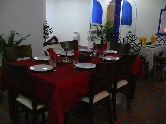Riad Leila Chambre d'hotes: table de nouvel an 2012