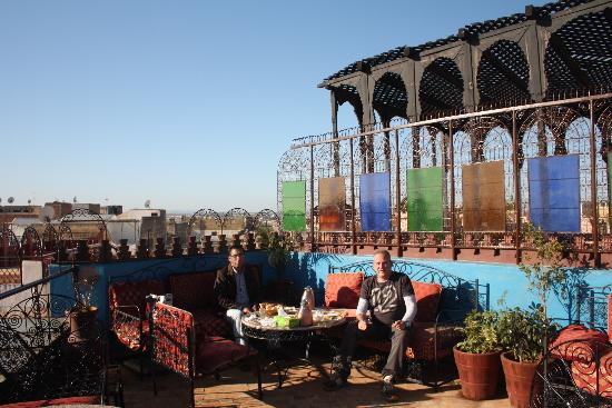 Riad Hiba Meknes: La terraza del desayuno