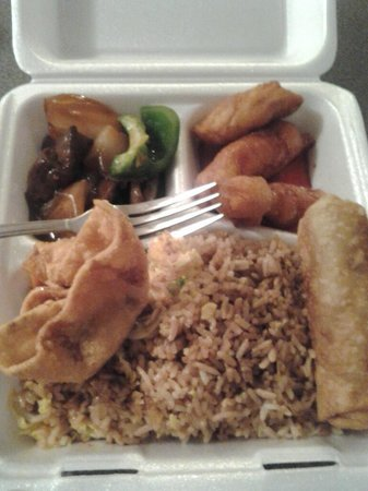 Buffet Garden Chinese Restaurant : Yes its the actual portion size!