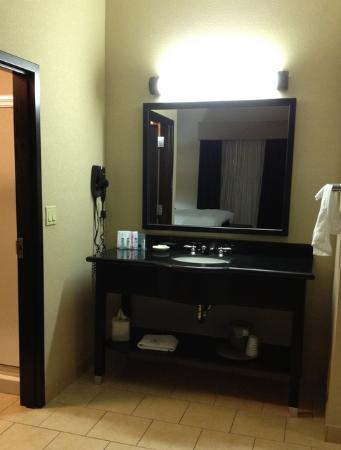 Hampton Inn and Suites Decatur: Really clean feeling bathroom space