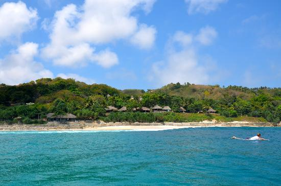 Nihi Sumba: View of the resort from the water