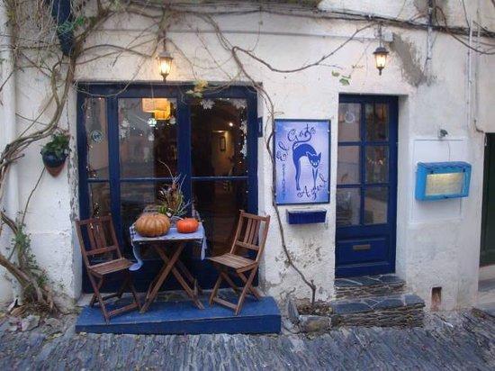 El Gato Azul: façade du restaurant