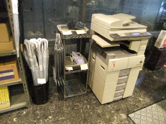 Asakusabashi Business Hotel: ロビーにコピーファックス