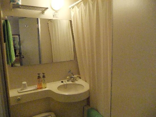 Kyoto Plaza Hotel: ちょっと狭めのバスルーム 支障はない
