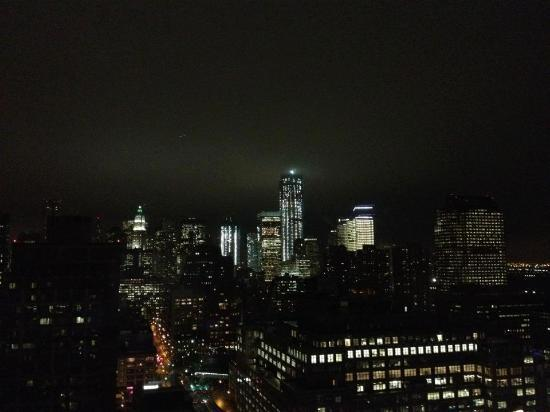 Trump SoHo New York: View from the room at night