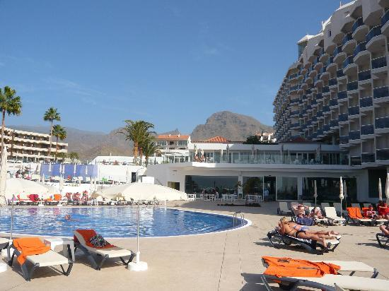 HOVIMA Costa Adeje : The Main pool area with Bar and Restaurant (1st floor) facing