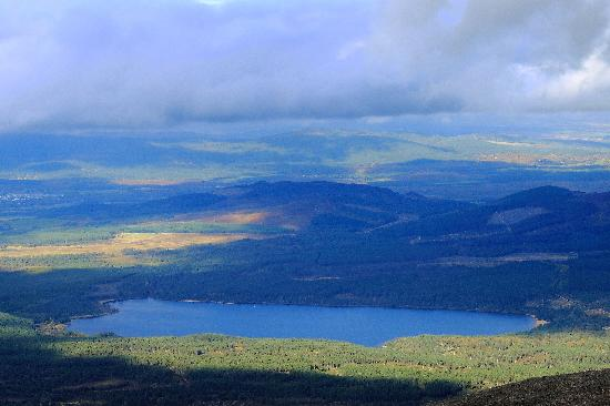 Cairngorms National Park: Zoom shot of Loch Morlich from the top