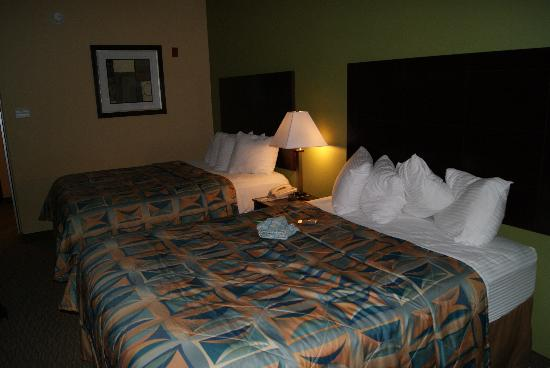 Sleep Inn & Suites: A two queen-size bed room.