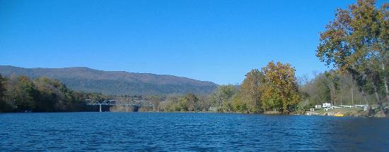 View of mountains from Shenandoah, VA (River)