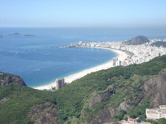 Belmond Copacabana Palace: Praia de Copacabana vista do Pão de Açúcar