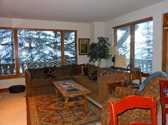 Arrowhead Village Condominiums : Living room Pinecone property @Arrowhead Village